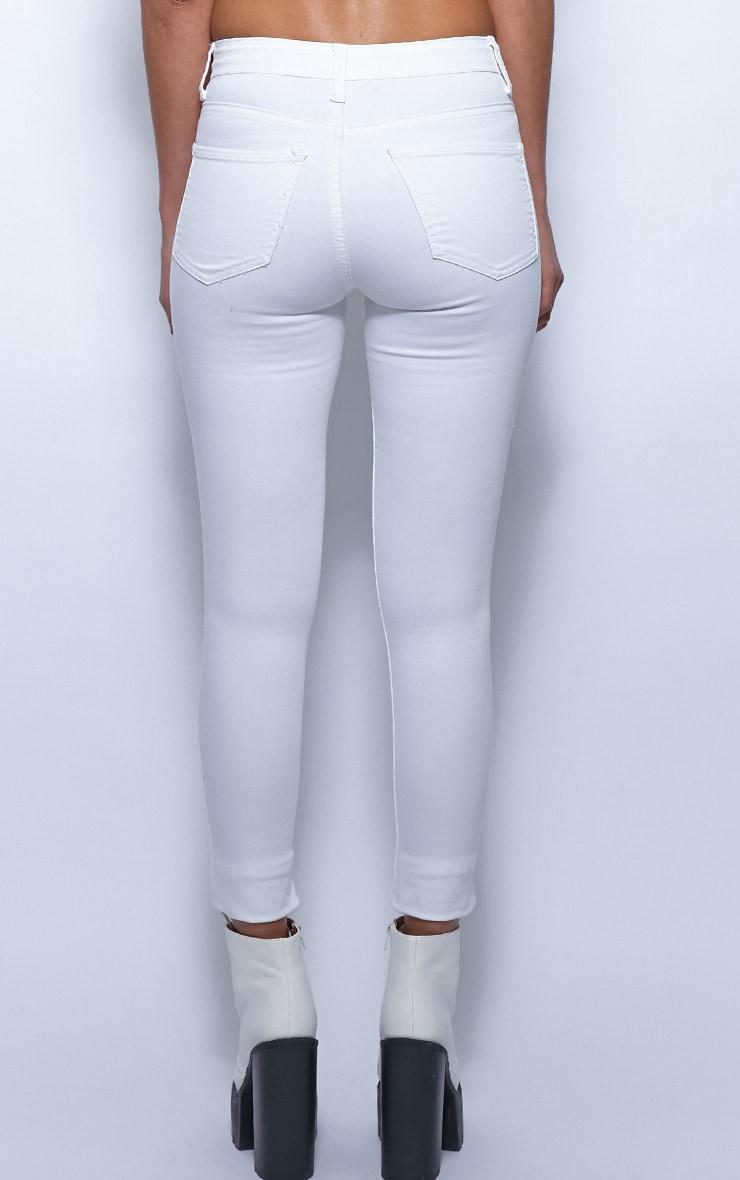 Kimmy White Ankle Grazer Skinny Jeans 2