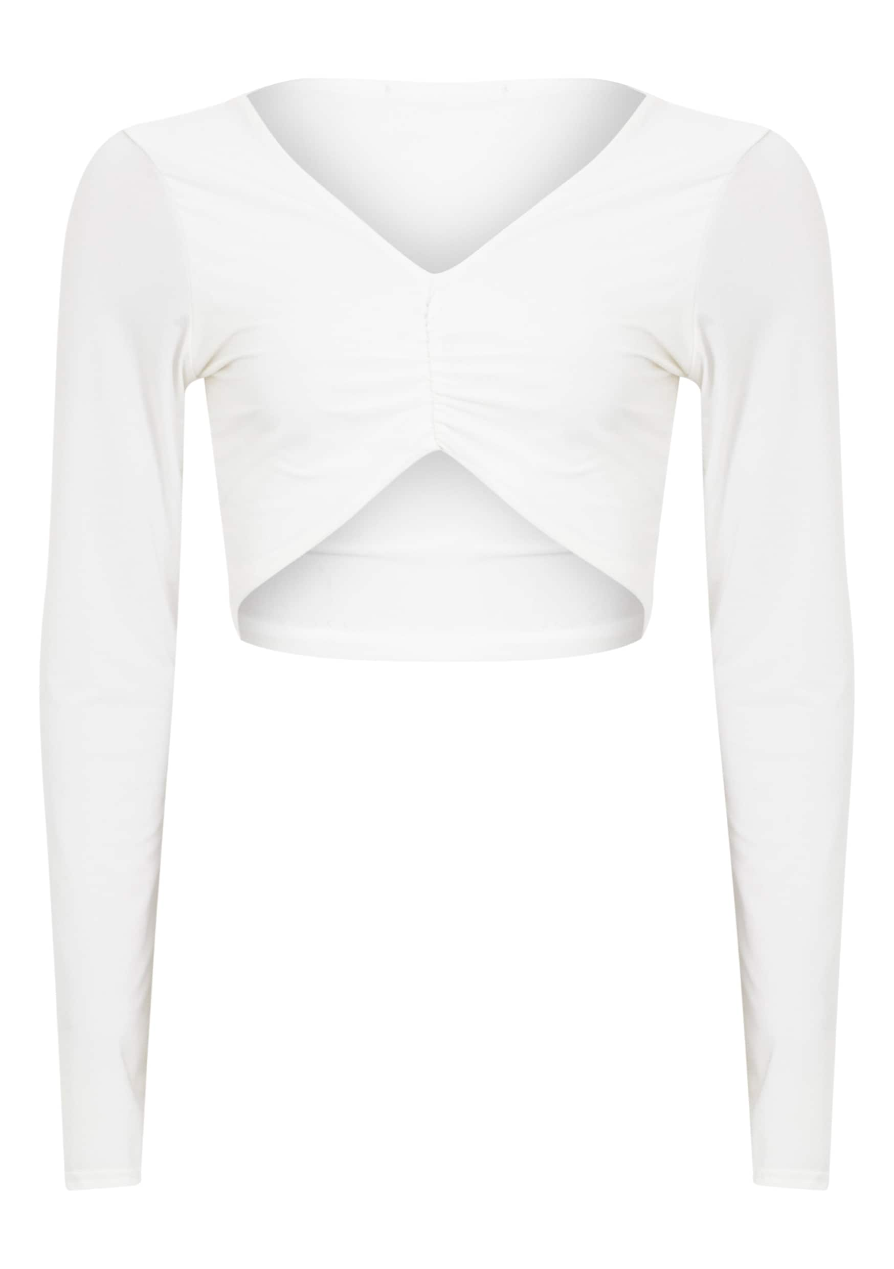 Maizie Cream Slinky Ruched Crop Top 5