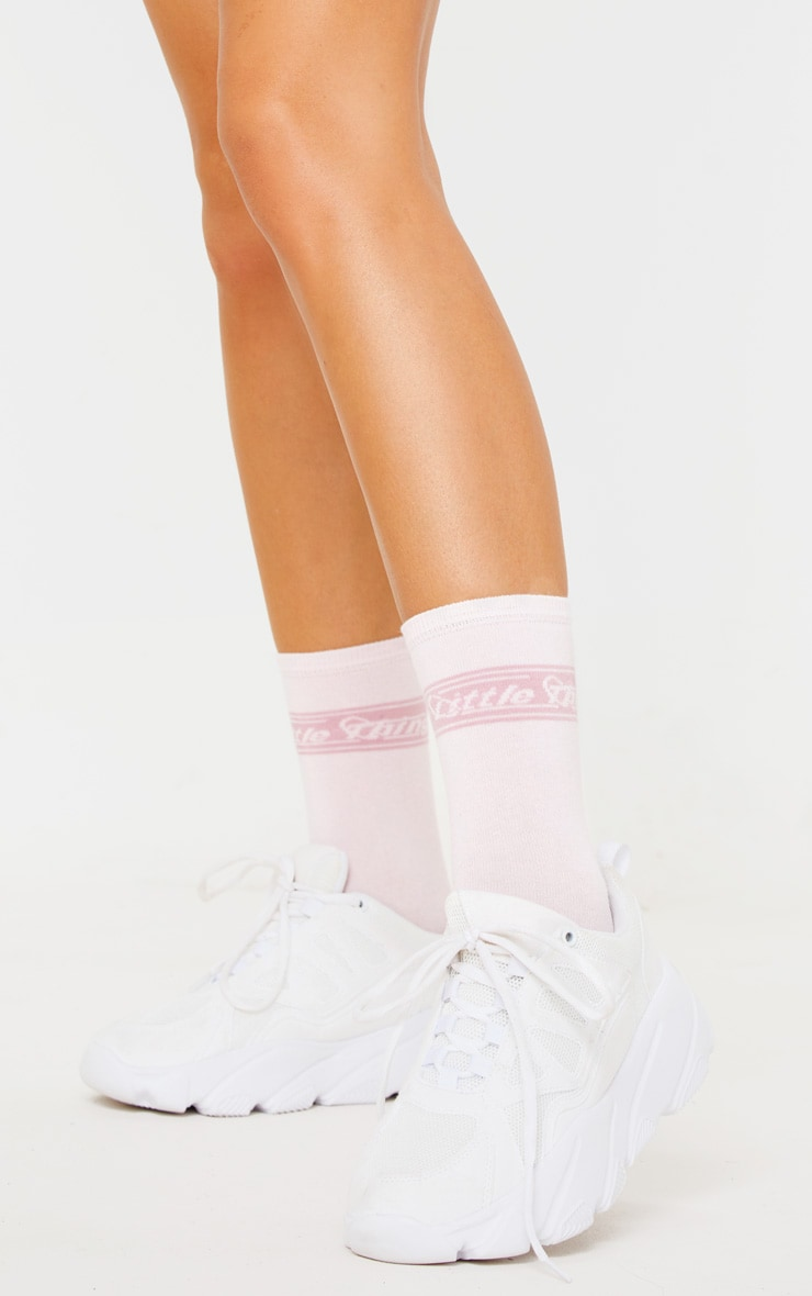 PRETTYLITTLETHING Pink Retro Socks 1