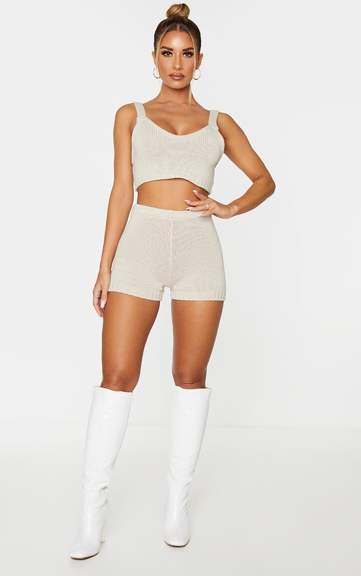 Cream Knitted Strapping Bralet 3