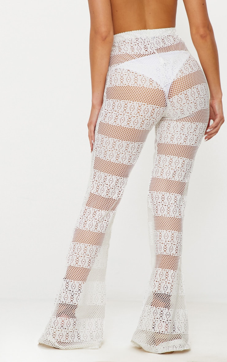 White Crochet Beach Flare 3