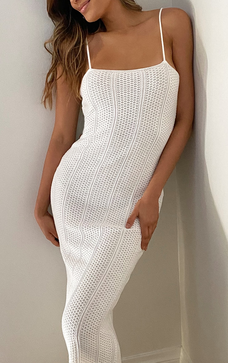 Tall Cream Knitted Maxi Dress 4