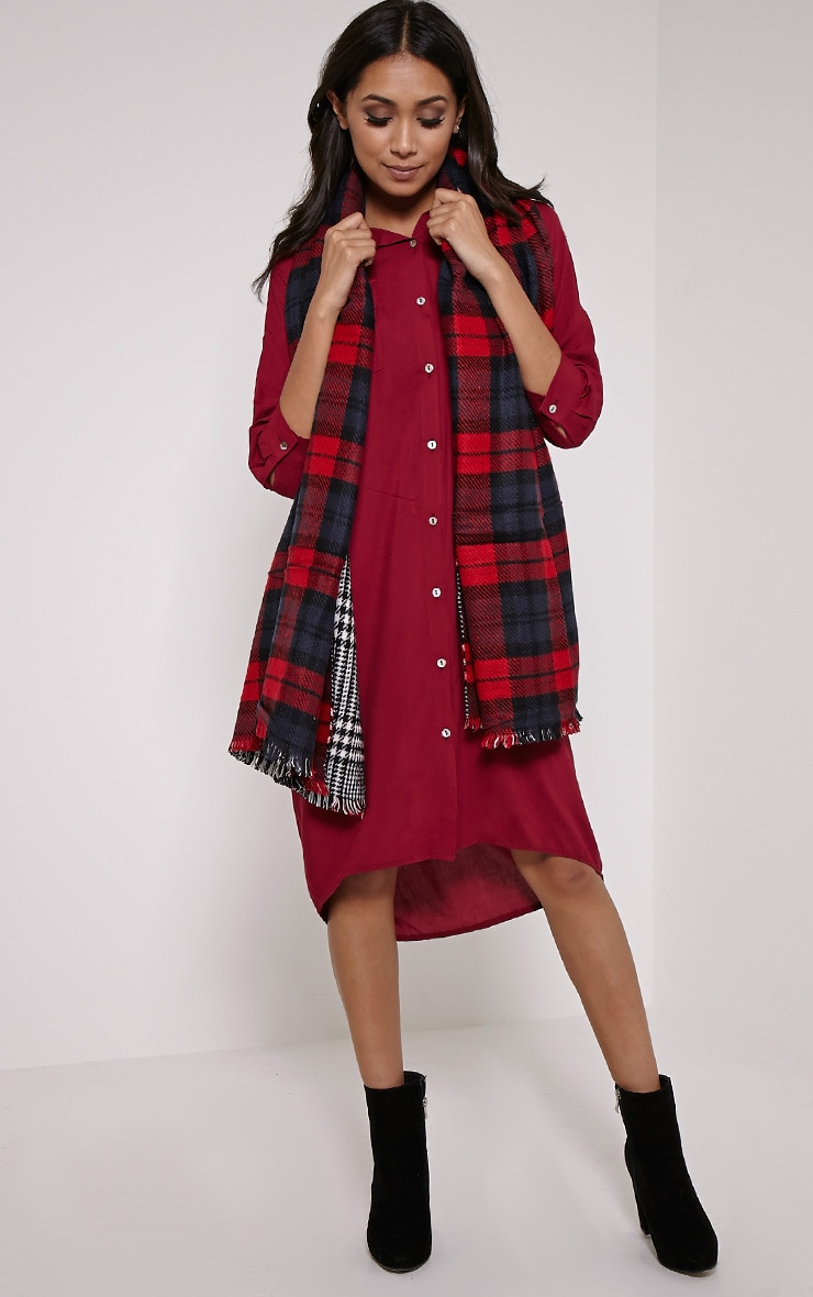 Georgey Multi Check Oversized Scarf 5