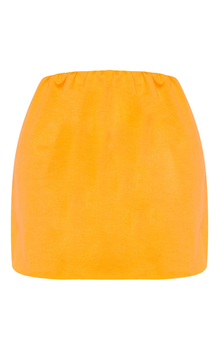 Shape Orange Sweat Mini Skirt 3