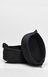 Black Large Cotton Rope Storage Basket 4