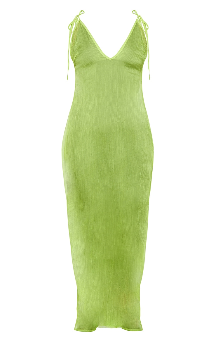 Lime Chiffon Maxi Beach Dress 7