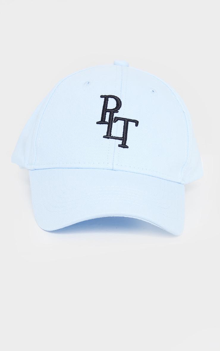 PRETTYLITTLETHING Baby Blue Baseball Cap 1