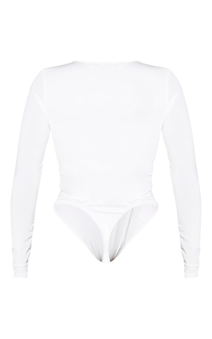 Shape White Long Sleeve Slinky Bodysuit 6