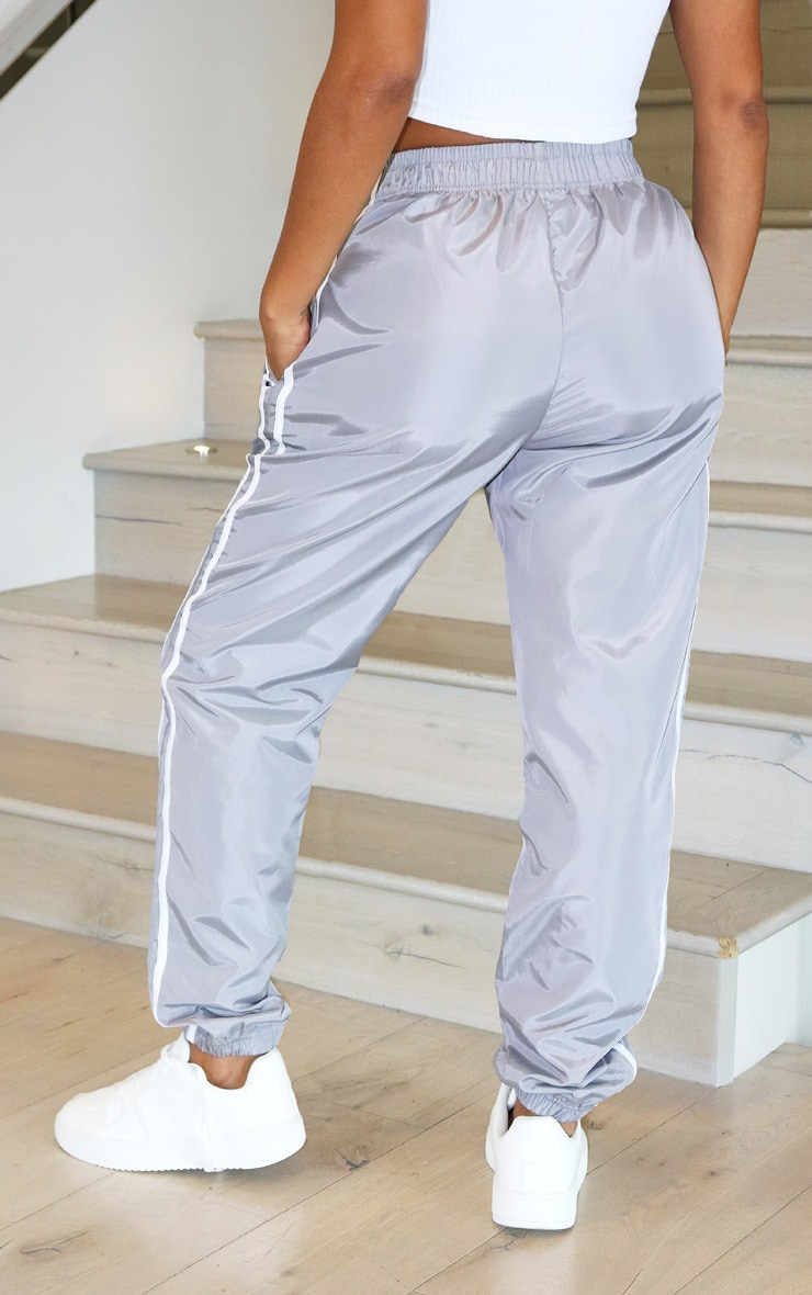 Shape Grey Side Stripe Shell Joggers 3