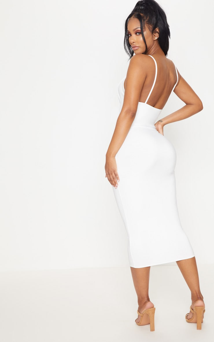 Shape Ivory Slinky Panelled Midi Dress 2