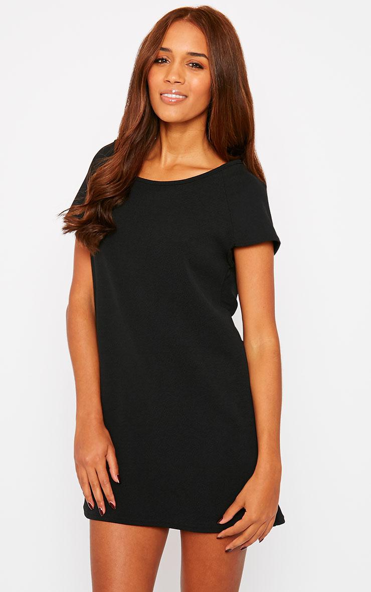Camila Black Loose Fit Shift Dress 3