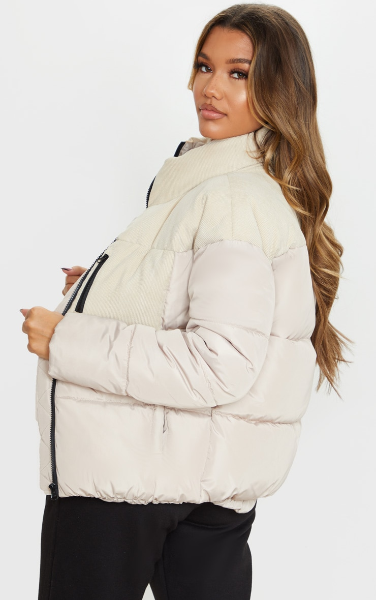 Stone Cord Contrast Pocket Puffer 2