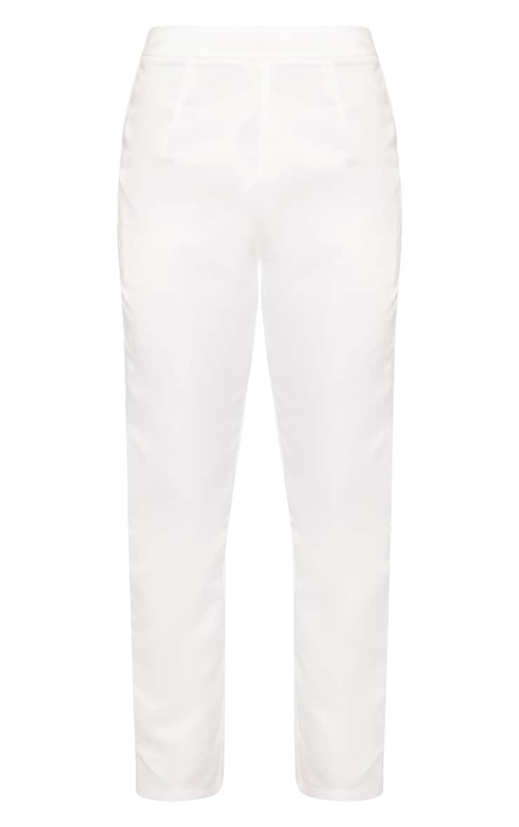 Petite Cream Skinny Suit Pants 3