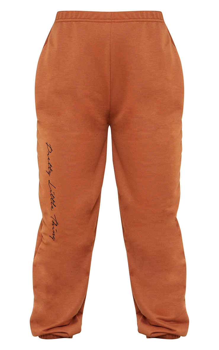 PRETTYLITTLETHING Petite Rust Basic Joggers 5