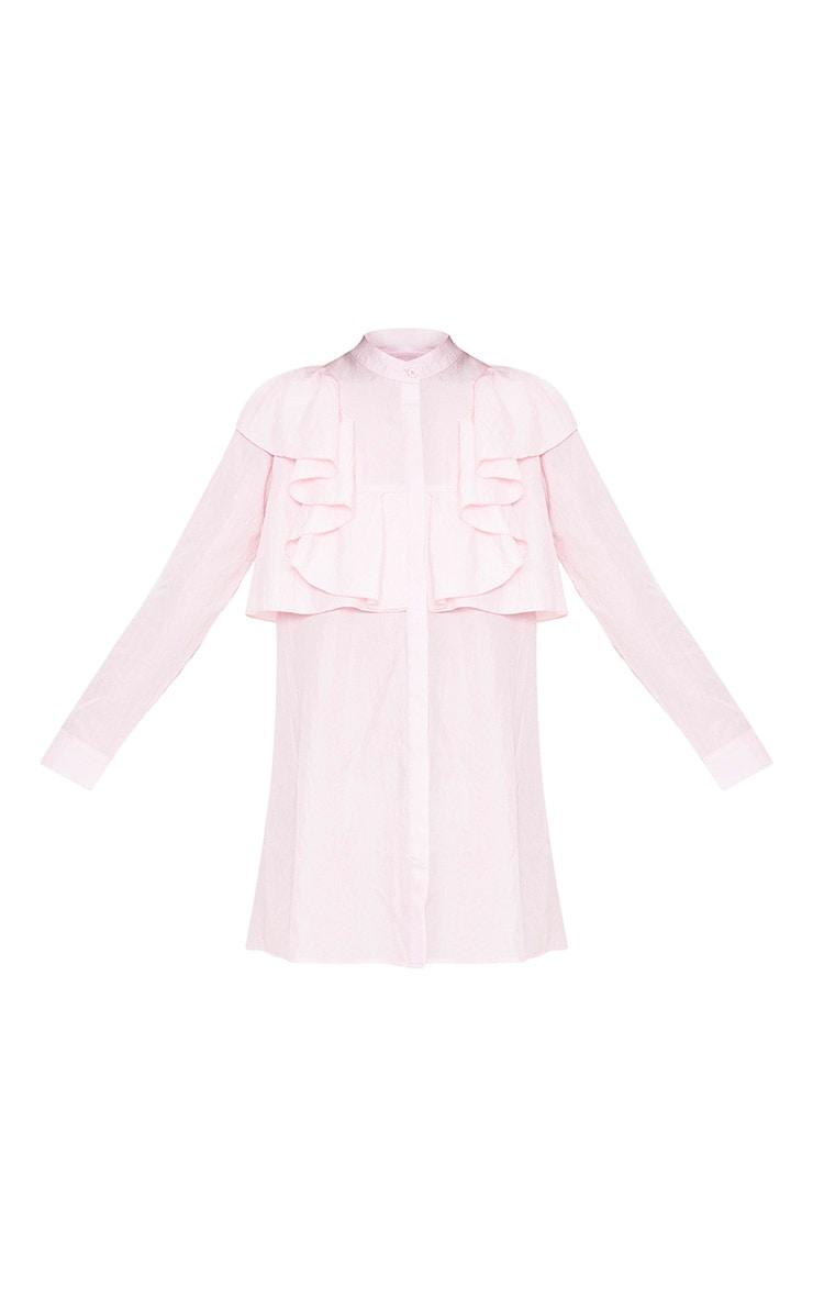 Nude Frill Front Shirt Dress 3