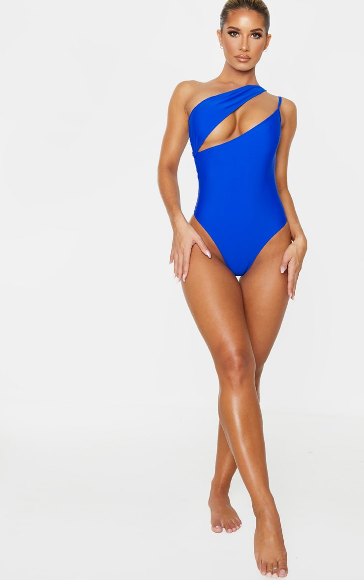 Cobalt Asymmetric Double Strap Swimsuit 5