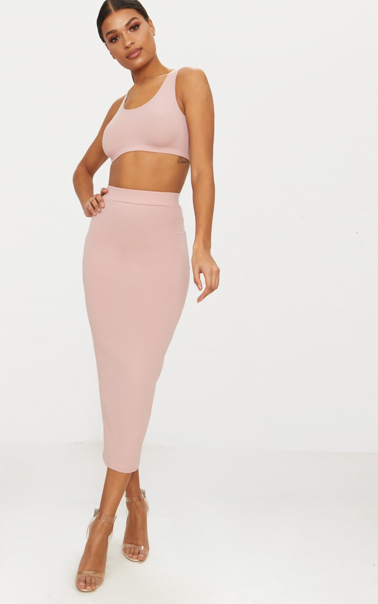 Rose Second Skin Bodycon Midaxi Skirt 1