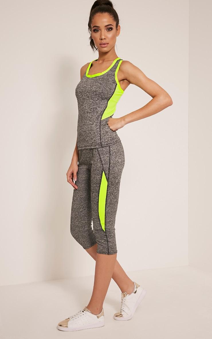Jennie legging court sport à bandes jaunes 1