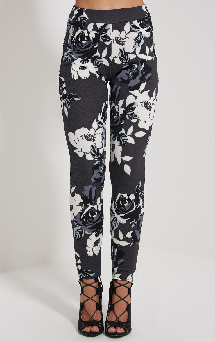 Zafier Grey Floral Trousers 2