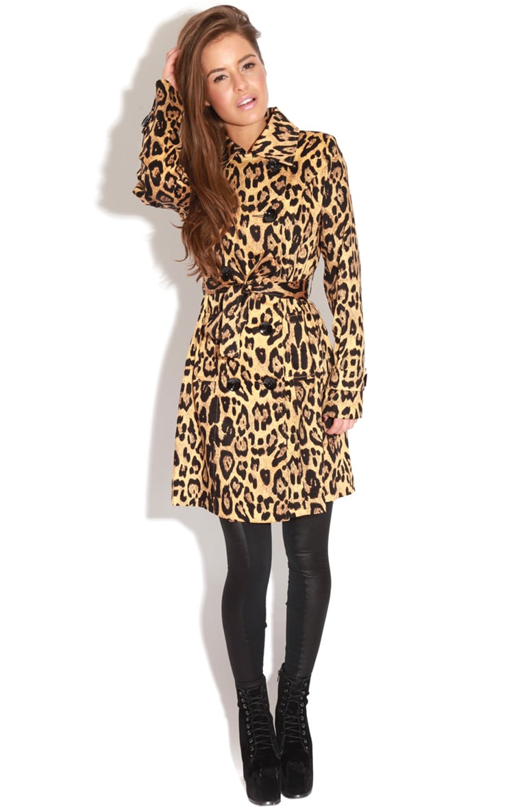 April Leopard Print Trench Coat 3