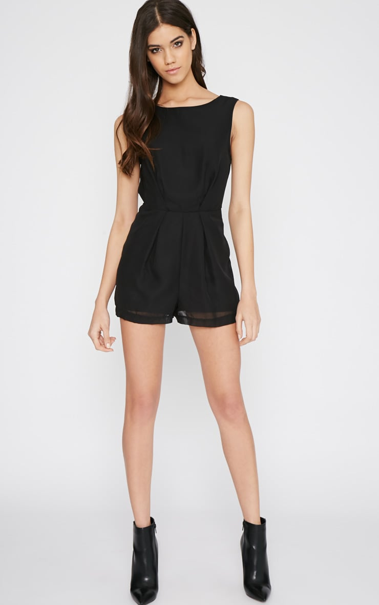 Black Lace Back Playsuit 4