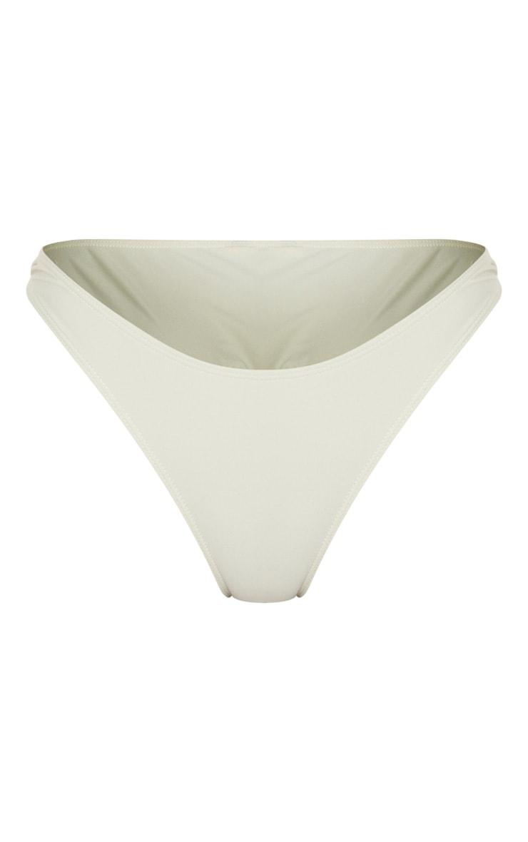 Sage Green High Leg Bikini Bottom 1