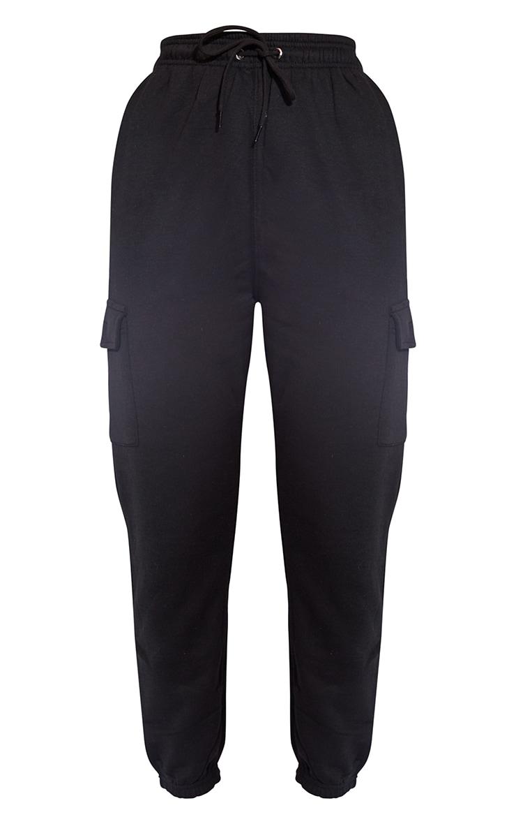 Black Pocket Detail Casual Joggers 5