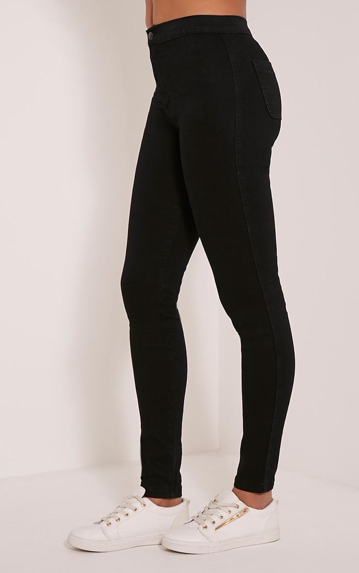 Black Mid Rise Skinny Jeans 4