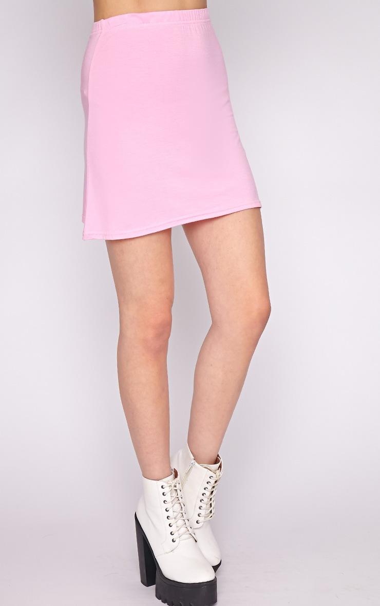 Erika Pink A Line Mini Skirt  5