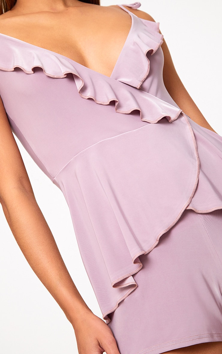 Lilac Slinky Wrap Playsuit 5