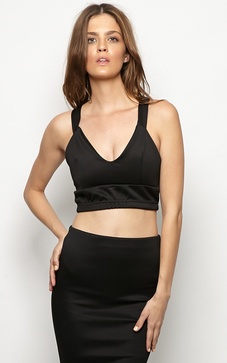 Esme Black Bralet Crop Top 1