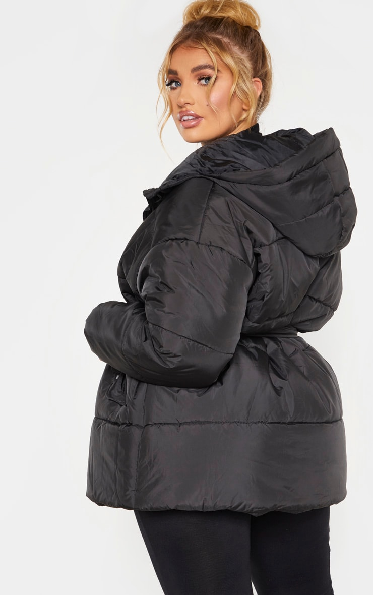 Plus Black Belted Puffer 2