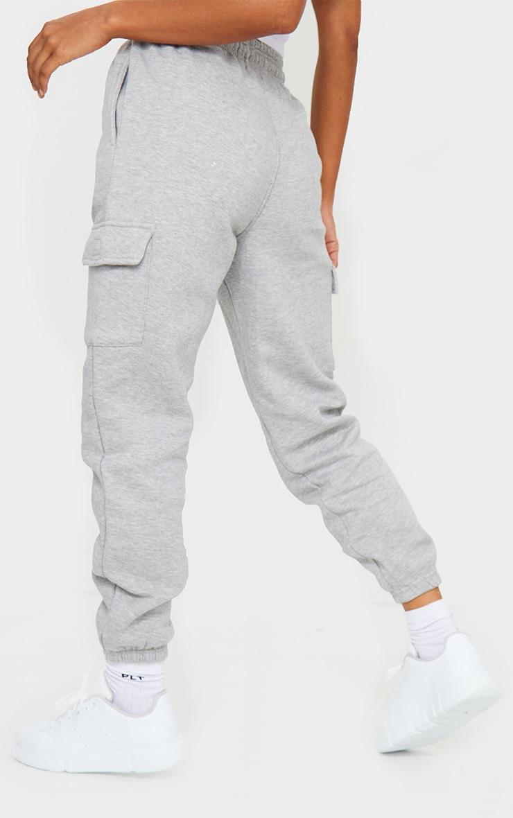 Grey Pocket Detail Casual Joggers 3