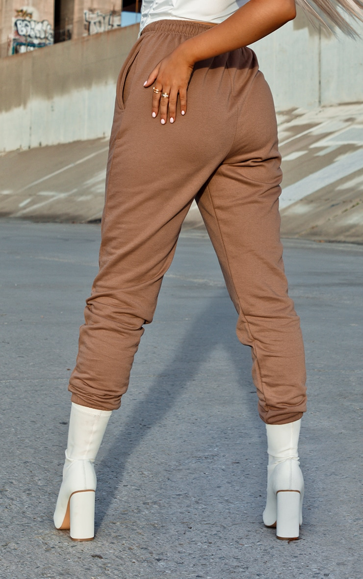 Pantalon de jogging marron chocolat casual 3