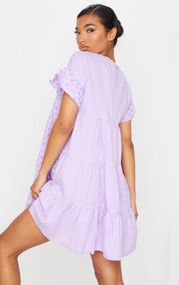 Lilac Broderie Anglaise Smock Dress 2