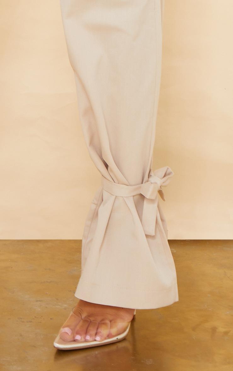 Stone Tailored Elasticated Waist Tie Hem Trousers 4
