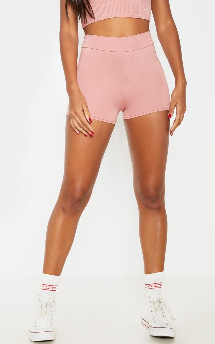 Dusty Rose Basic High Waisted Shorts 2