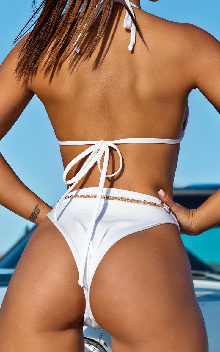 Bas de bikini style brésilien blanc 4