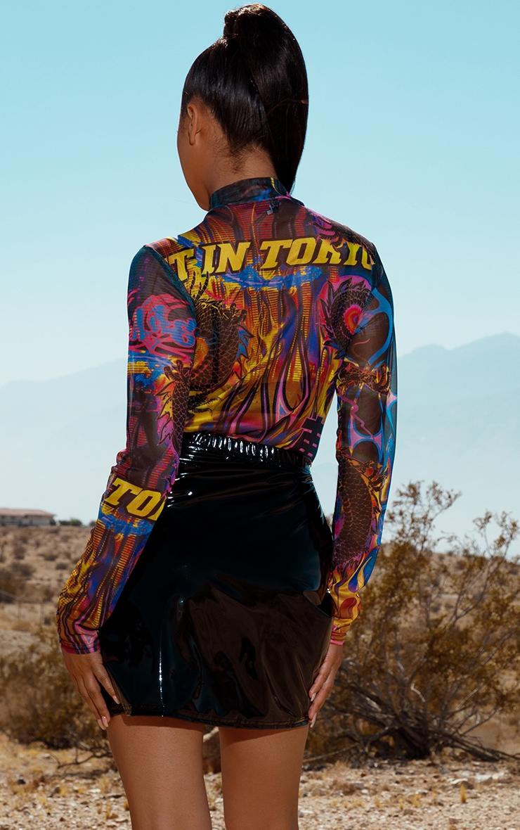 Body imprimé graffiti multicolore  2