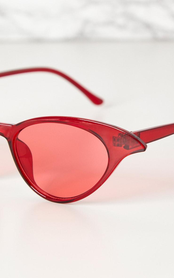 Red Drop Cat Eye Sunglasses 3