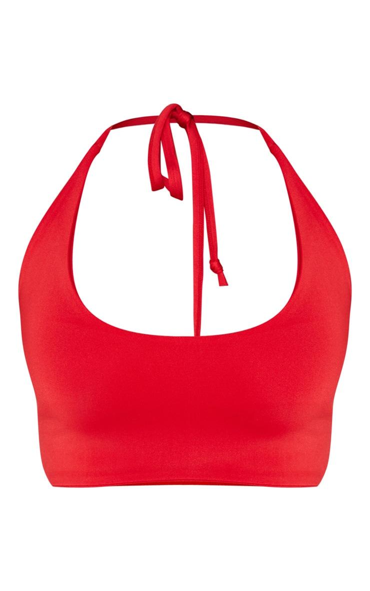 Shape - Haut de maillot de bain dos nu rouge 3