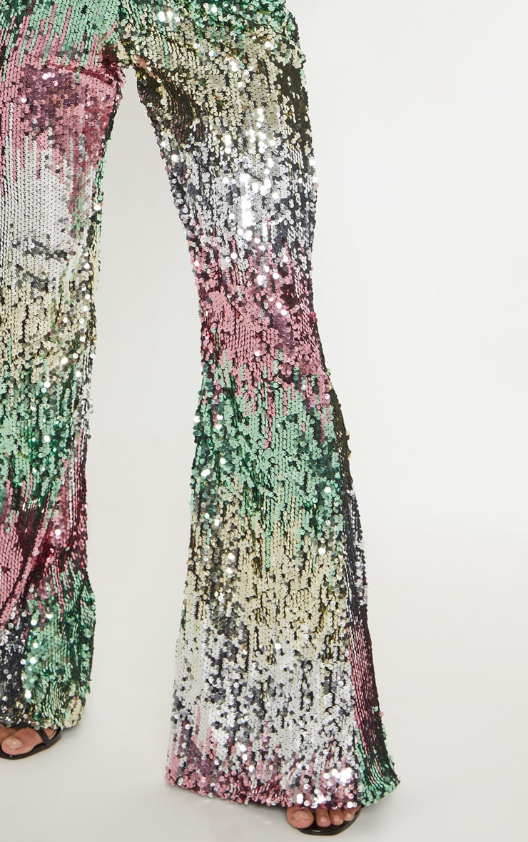 Multi Sequin Plunge Jumpsuit 5