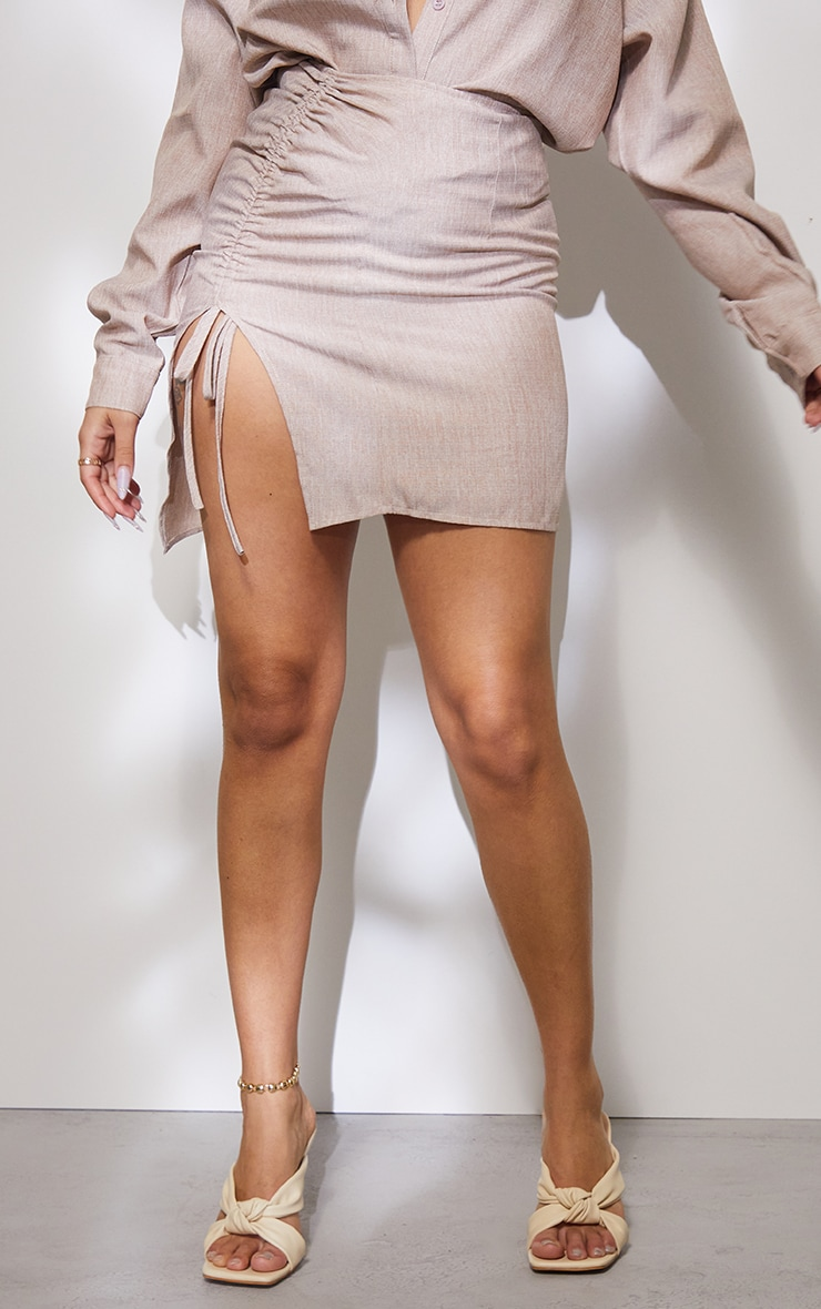 Petite Stone Ruched Bodycon Skirt 2