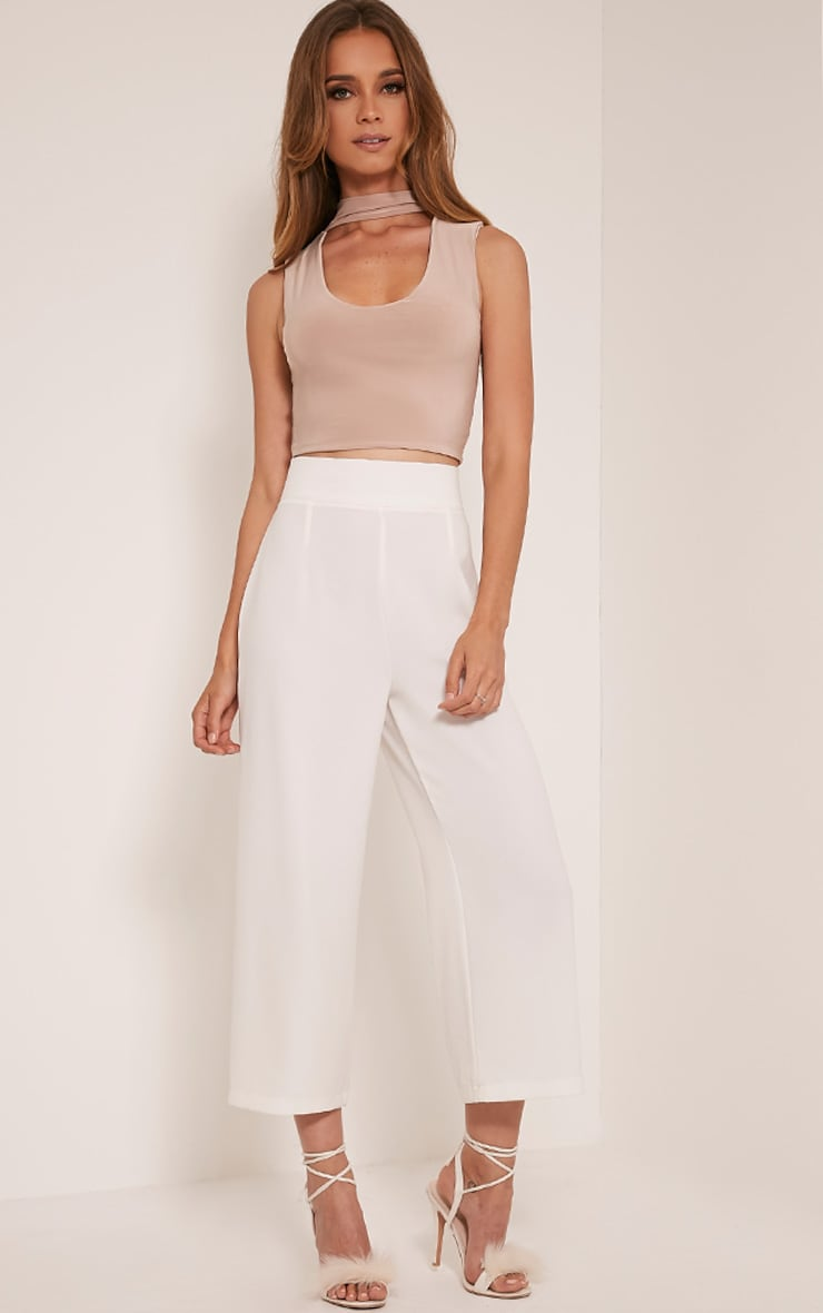 Melrose Stone Cut Out Neck Slinky Crop Top 5