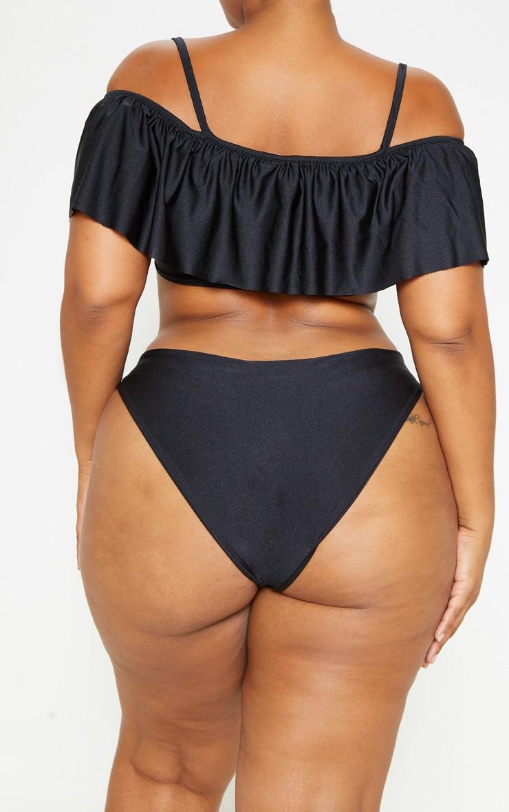 Plus Black High Waist Bikini Bottom 5
