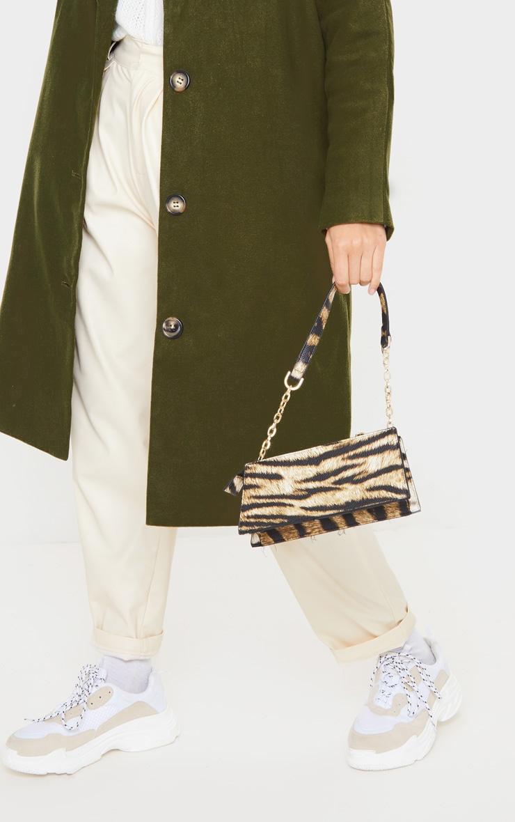 Khaki Boyfriend Oversized Midi Coat 5