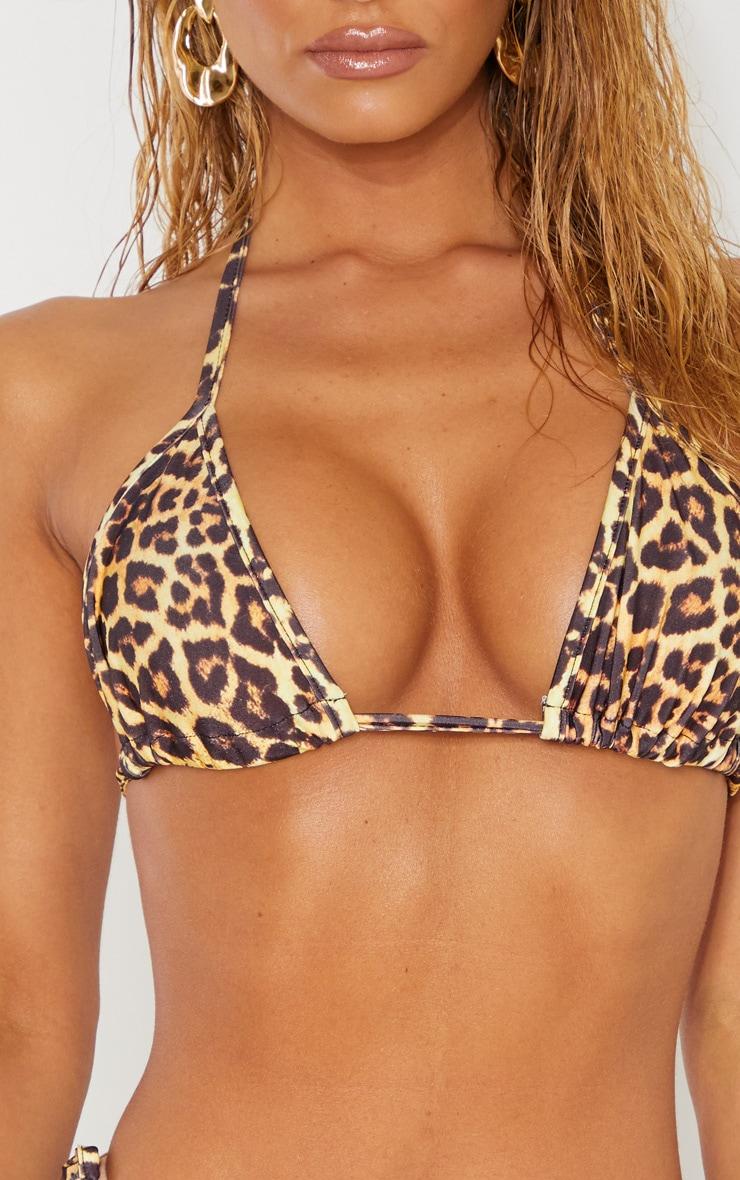 Leopard Mix & Match Triangle Bikini Top 5