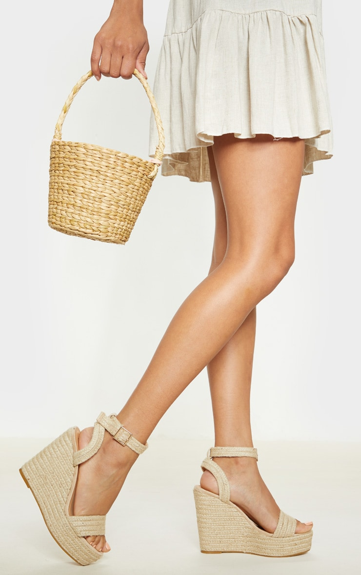 Natural Espadrille Wedge Sandal