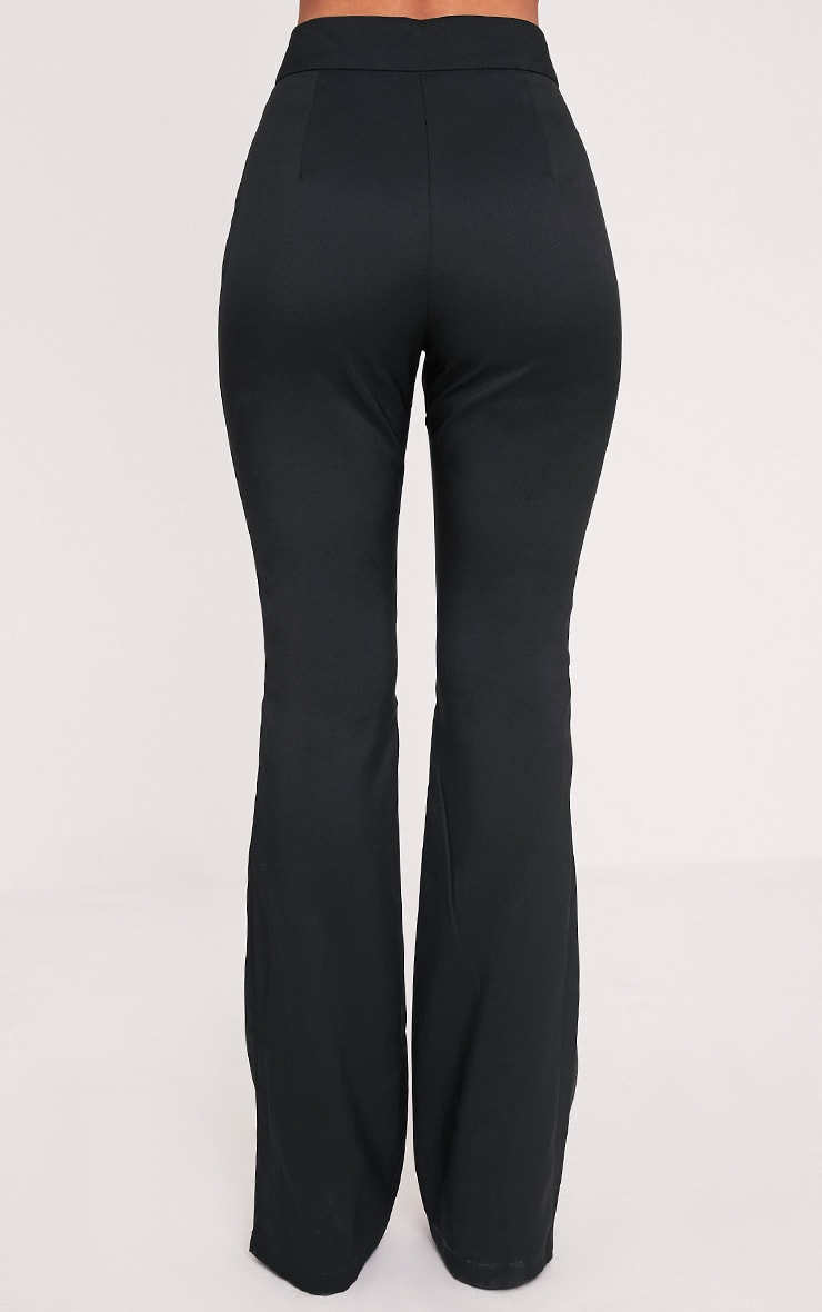Jessa Black Fit and Flare Trousers 5