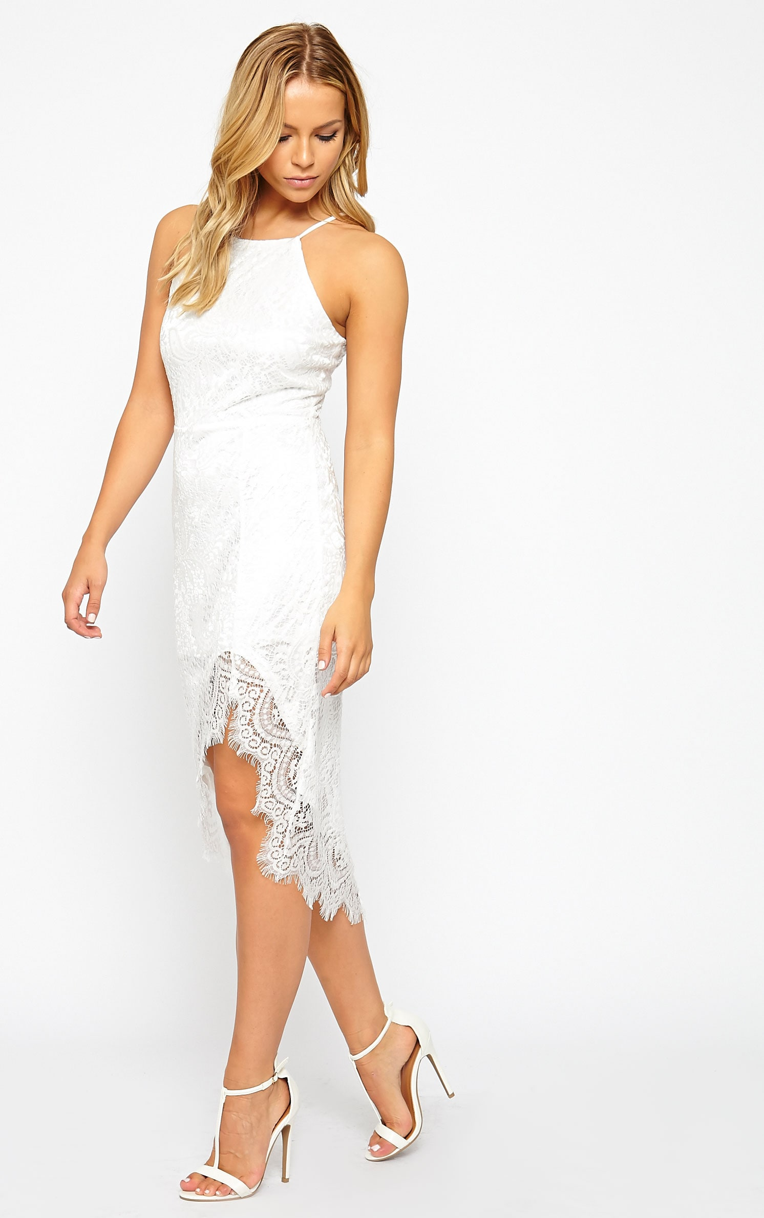Trinny White Lace Dress 1